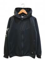 Y's×NEW ERA(ワイズ×ニューエラ)の古着「スリーブロゴウォームアップジャケット」|ブラック