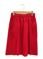 me ISSEY MIYAKE(ミー イッセイミヤケ)の古着「プリーツスカート」|レッド