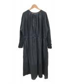 ()の古着「ギャザーワンピース」|ブラック