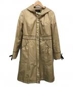 TOCCA(トッカ)の古着「フーデッドコート」|ベージュ
