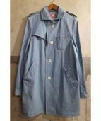 NEWYORKER(ニューヨーカー)の古着「ステンカラーコート」 ブルー