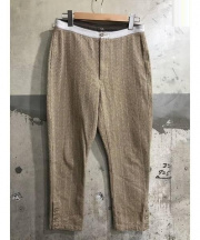 45R(45アール)の古着「ジャガード織パンツ」|ブラウン