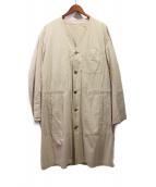 YohjiYamamoto pour homme(ヨウジヤマモトプールオム)の古着「ノーカラーコート」|ベージュ