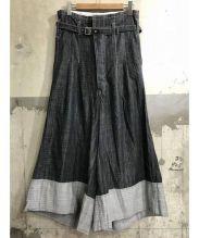 JUNYA WATANABE COMME des GARCONS(ジュンヤワタナベ コムデギャルソン)の古着「ハイウエストサルエルデニム」|ブラック
