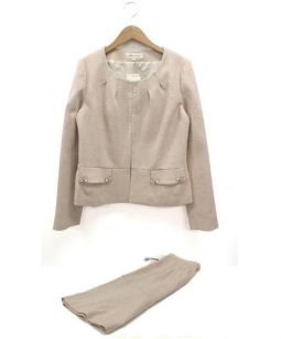 Debut De Fiore(デビュードフィオレ)の古着「セットアップスカートスーツ」|ピンク