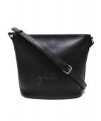 agnes b(アニエスベー)の古着「パンチングロゴショルダーバッグ」|ブラック