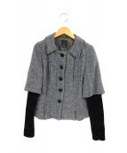 mina perhonen(ミナペルフォネン)の古着「シルク混ジャケット」|ライトグレー