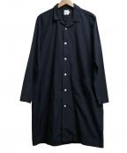 RINEN(リネン)の古着「オープンカラーロングシャツコート」