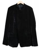 EMPORIO ARMANI(エンポリオアルマーニ)の古着「スタンドカラーダブルジャケット」|ブラック