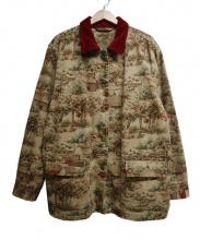 LAURENRALPHLAUREN(ローレン ラルフローレン)の古着「ヴィレッジ柄ワークジャケット」|ブラウン