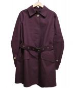 MACKINTOSH(マッキントッシュ)の古着「ゴム引きステンカラーコート」|パープル