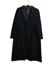 UNDER COVER(アンダーカバー)の古着「切替チェスターコート」 ブラック