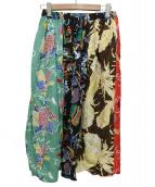 SUN SURF(サンサーフ)の古着「レーヨンハワイアンクレイジースカート」