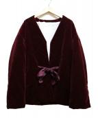 Graphpaper(グラフペーパー)の古着「Velvet Padding Jacket」|ボルドー