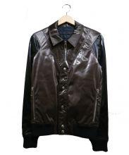DIOR HOMME(ディオール オム)の古着「切替ジャケット」|ブラウン×ブラック