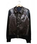 DIOR HOMME(ディオール オム)の古着「レイヤードブルゾン」|ブラウン×ブラック