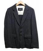 COMME des GARCONS HOMME DEUX(コムデギャルソン オム ドゥ)の古着「ヘリンボーンワークジャケット」|グレー