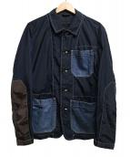 COMME des GARCONS HOMME(コム デ ギャルソン オム)の古着「デニムドッキングカバーオール」|ネイビー