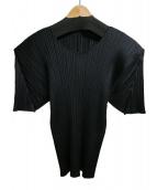 PLEATS PLEASE(プリーツ プリーズ)の古着「プリーツカットソー」|ブラック