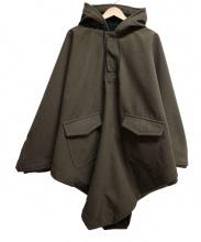 COMME des GARCONS SHIRT(コムデギャルソンシャツ)の古着「フード付オーバーサイズポンチョ」|カーキ
