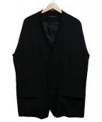 Y's(ワイズ)の古着「シワギャバノーカラージャケット」|ブラック