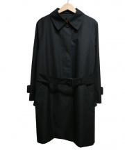 Aquascutum(アクアスキュータム)の古着「ライナー付ステンカラーコート」|ブラック