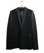 DIESEL(ディーゼル)の古着「袖レザーショールカラージャケット」|ブラック