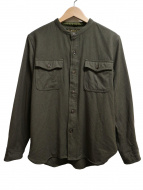 PHIGVEL(フィグベル)の古着「ウールシャツ」 カーキ