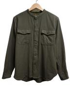 PHIGVEL(フィグベル)の古着「ウールシャツ」|カーキ