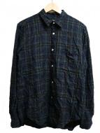 COMME des GARCONS HOMME(コムデギャルソンオム)の古着「シワ加工チェックシャツ」