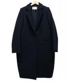 ENFOLD(エンフォルド)の古着「ストライプメルトンコート」