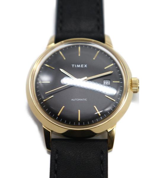 TIMEX(タイメックス)TIMEX (タイメックス) 腕時計 ブラック TW2T22800 自動巻き レザーの古着・服飾アイテム