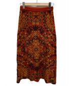 TAN(タン)の古着「ジャガードニットスカート」