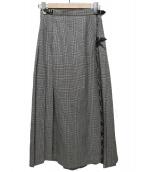 ONEIL OF DUBLIN(オニール オブ ダブリン)の古着「グレンチェックラップスカート」