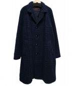 Massimo Piombo(マッシモピオンボ)の古着「胡桃釦チェスターコート」|ネイビー