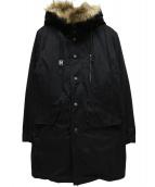 HAMNETT(ハムネット)の古着「ライナー付モッズコート」|ブラック