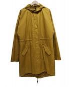 SPOOM(スプーム)の古着「ライナー付カラーモッズコート」|イエロー