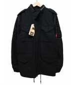 ALPHA(アルファ)の古着「M65フィールドジャケット」 ブラック