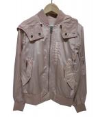 COACH(コーチ)の古着「フード付MA-1ジャケット」|ピンク