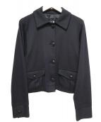 Marc by Marc Jacobs(マークバイマークジェイコブス)の古着「シルクレーヨンショートジャケット」|ブラック