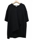 ENFOLD(エンフォルド)の古着「ダブルクロスVネックトップス」|ブラック