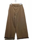 45R(45アール)の古着「フリンジワイドパンツ」|ブラウン