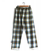PHINGERIN(フィンガリン)の古着「パジャマパンツ」|サックスチェック