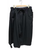 YohjiYamamoto pour homme(ヨウジヤマモト プールオム)の古着「半端丈シワギャババルーンパンツ」 ブラック