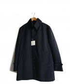 MORGAN HOMME(モルガンオム)の古着「ボンディングカルゼナポレオンカラーコート」|ネイビー