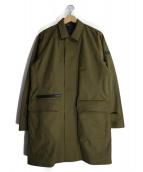 AIGLE(エーグル)の古着「中綿ライナー付透湿防水ステンカラーコート」 カーキ