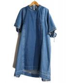 sacai(サカイ)の古着「再構築デニムワンピース」|インディゴ
