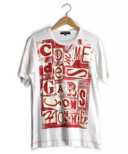 COMMEdesGARCONSHommePlus(コム デ ギャルソン オム プリュス)の古着「ビーチロゴブリントT」 ホワイト