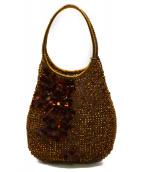 ANTEPRIMA(アンテプリマ)の古着「フラワーワイヤーバッグ」|ゴールド