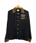 WACKO MARIA(ワコマリア)の古着「レオパードボウリングシャツ」 ブラック